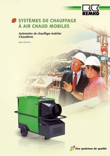 Systèmes de chauffage à air chaud mobiles 2010-2011