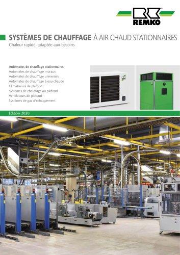 Systems de chauffage a air chaud stationnaires