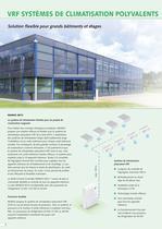 VRF SYSTÈMES DE CLIMATISATION POLYVALENTS 2013 - 2