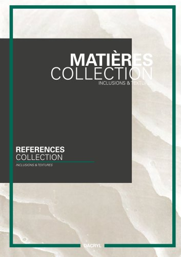 Catalogue matière