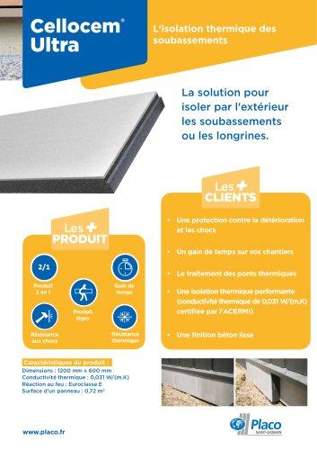 Cellocem® Ultra - L'isolation thermique des soubassements