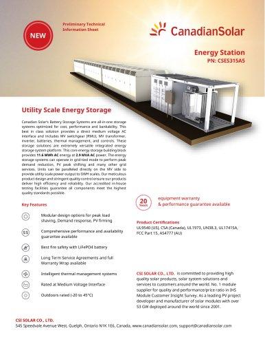 Energy Station PN: CSES315A5