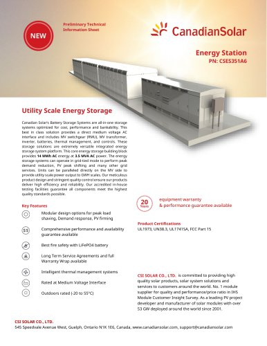 Energy Station PN: CSES351A6
