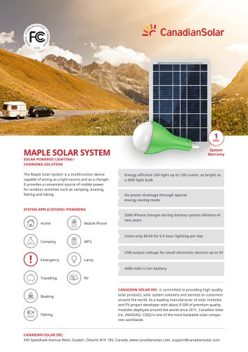 MAPLE SOLAR SYSTEM