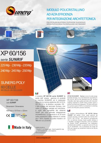 XP 60/156 Sunrif series