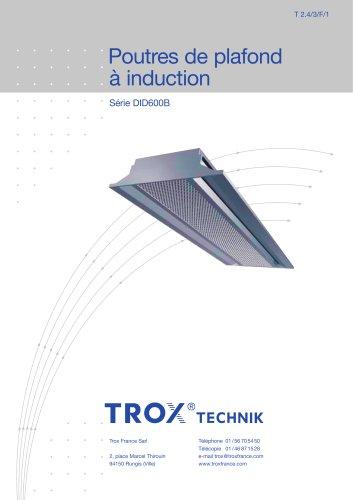 Poutres de plafond à induction Série DID600B
