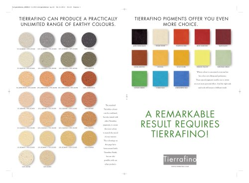 Tierrafino Assisting Products Sheet