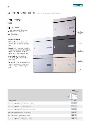 Infinity vertical V2300