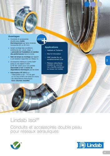 Isol® : Conduits et accessoires double peau pour réseaux aérauliques