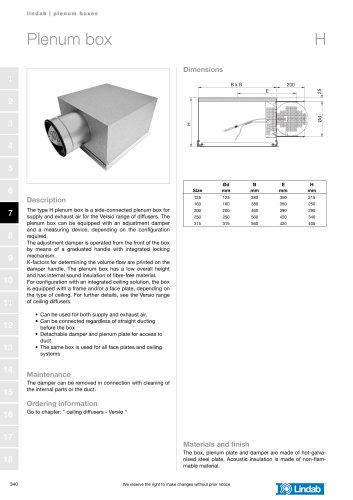 Plenum box - H