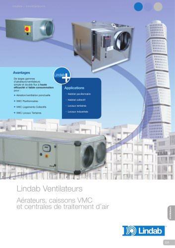 Ventilateurs : Aérateurs, caisson VMC et centrales de traitement d'air