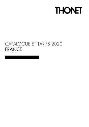 CATALOGUE ET TARIFS 2020 FRANCE