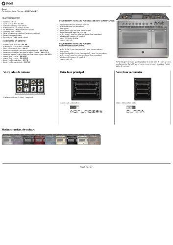 Ascot Cuisinières, Inox, Chrome , A12FF-6M/FF