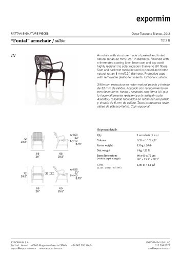 """""""Fontal"""" armchair / sillón"""