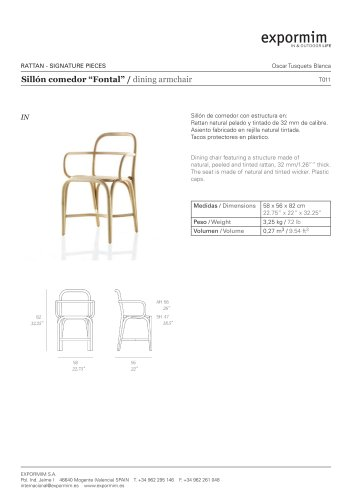 IN:?Fontal? Dining armchair