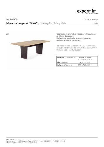 IN:Slats Rectangular dining table