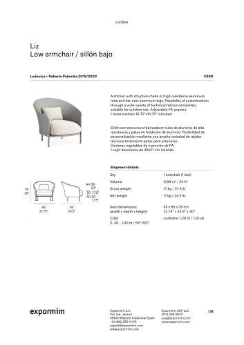 Liz Low armchair