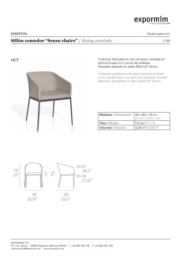 OUT:Senso chairs dining armchair