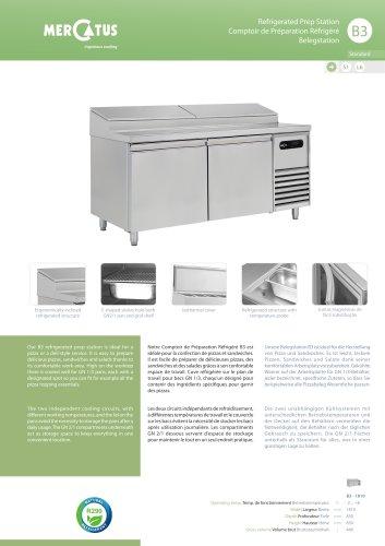 B3 Comptoir de Préparation Réfrigéré