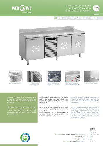 L20 Table Gastronorm Combi