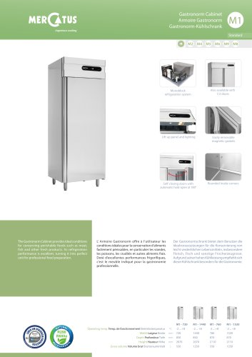 M1 Armoire Gastronorm