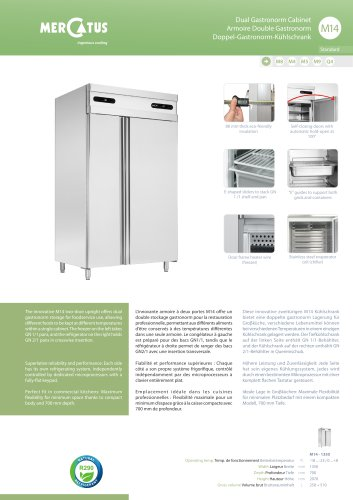 M14 Armoire Double Gastronorm