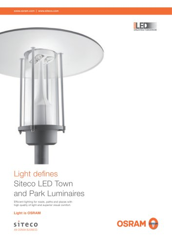 Light defines Siteco LED Town and Park Luminaires