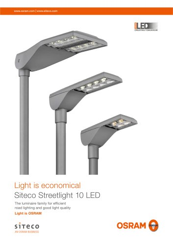 Light is economical Siteco Streetlight 10 LED
