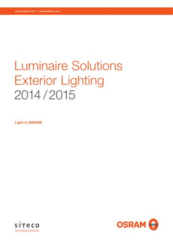 Luminaire Solutions Exterior Lighting 2014 / 2015