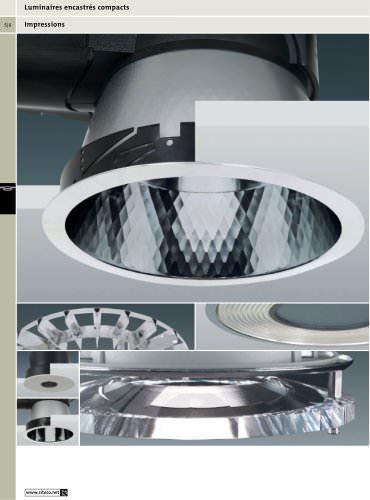 Luminaires encastrés compacts