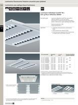 Luminaires fluorescents linéaires encastrés pour plafond - 11