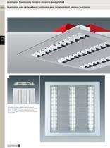Luminaires fluorescents linéaires encastrés pour plafond - 13