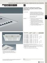 Luminaires fluorescents linéaires encastrés pour plafond - 14