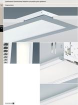 Luminaires fluorescents linéaires encastrés pour plafond - 1