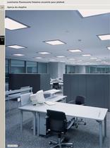 Luminaires fluorescents linéaires encastrés pour plafond - 3