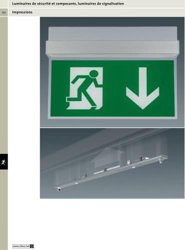 Luminaires de sécurité et composants, luminaires de signalisation