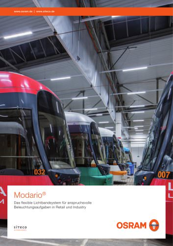 Modario The flexible trunking system for challenging lighting demands in industry and retail