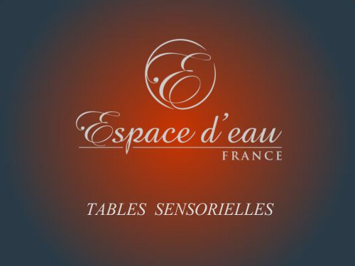 Catalogue Tables sensorielles
