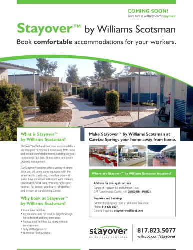 Stayover? by Williams Scotsman