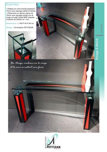 Consoles et miroirs  Rouge & Noire