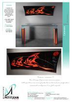 Consoles et miroirs  Rouge & Noire - 2