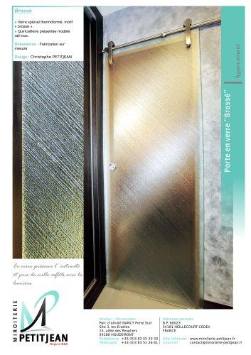 Portes en verre avec décor Modèle Brossé