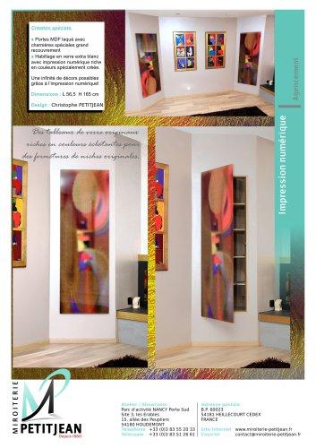 Portes en verre avec décor Modèle avec impression numérique