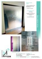 Portes en verre avec décor  Modèle Tirets - 1