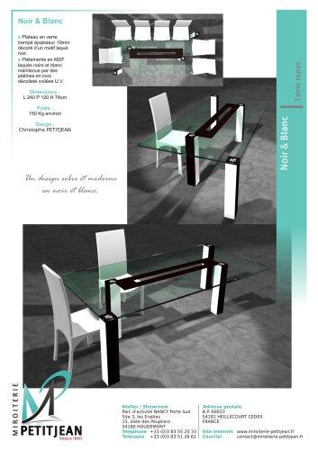 Tables repas  Noir & Blanc