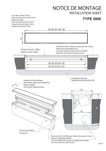 Notice Fosse à projecteur réglette LED Type 5800