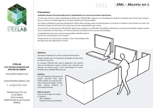 SML Jardinières Steelab Muret en L