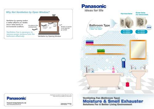 Ventilating fan (Bathroom type)