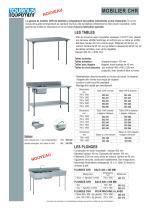 LES TABLES CHR