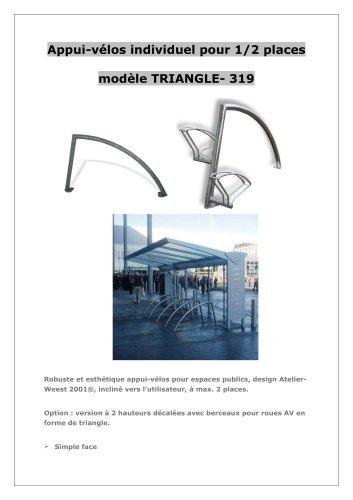 Appui-vélos type TRIANGLE-319